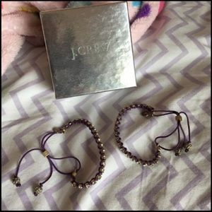 Pair of J Crew Bracelets - purple and gold